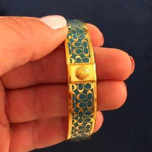 Blue And Gold Coach Bangle